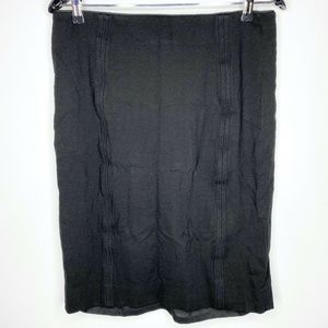 White House Black Market WHBM Black Skirt 10